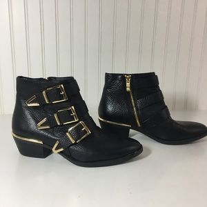 Vince Camuto Black 'Tipper' leather Ankle boots